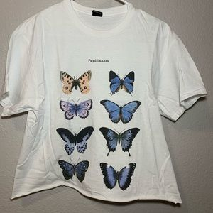 Urban Outfitters cropped butterfly tee